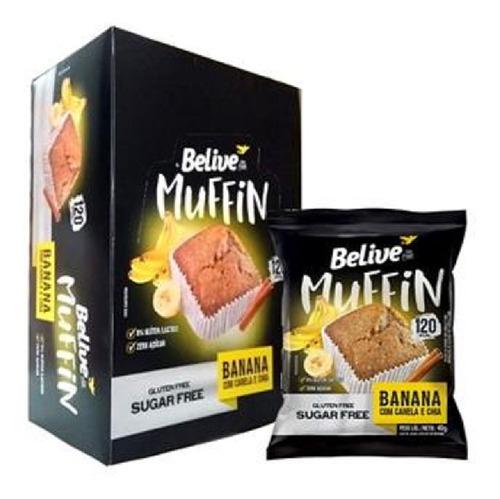 Imagem 1 de 1 de Muffin Belive Banana Canela E Chia 40g ( 10 Und )