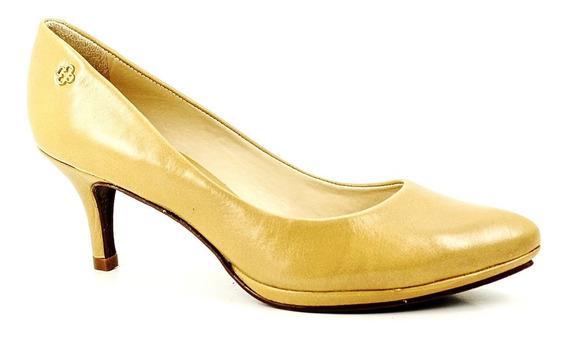 Sapato Scarpin Feminino Capodarte Bico Fino Salto Médio Rosê