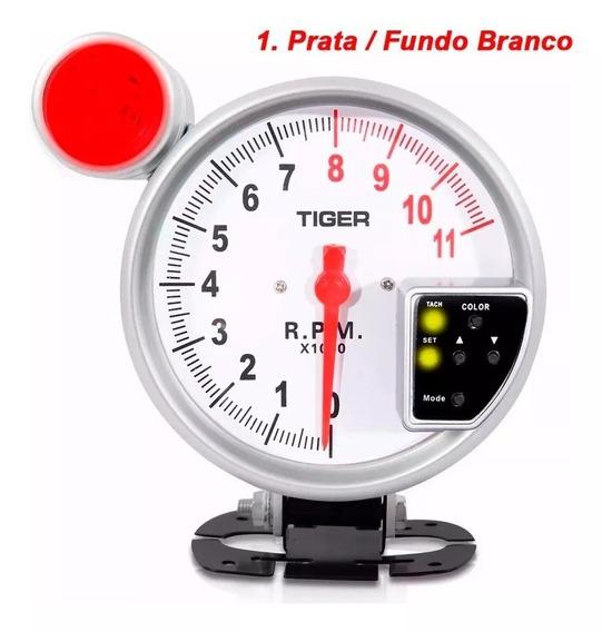 Conta Giros Esportivo Universal Led 7 Cores Tuning Com Nf