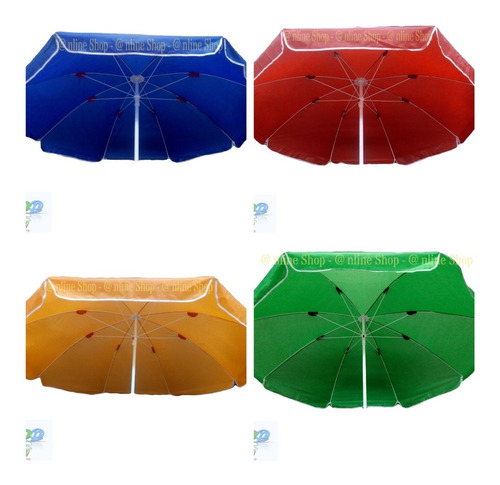 Parasol Sombrilla 2.40 Mts Alt Impermeable Tela  Elije Color