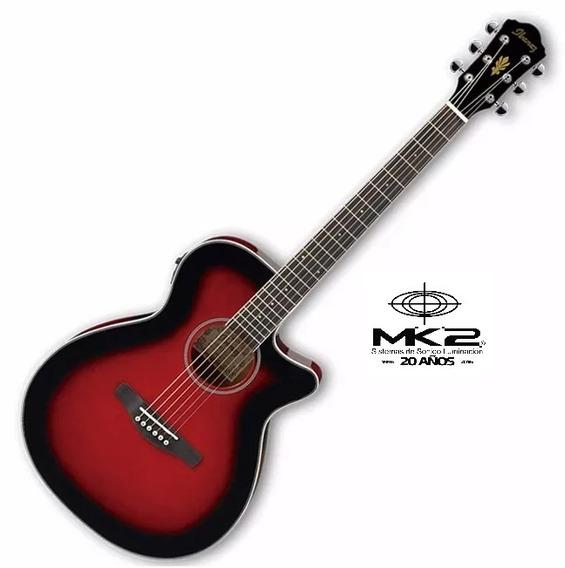 Guitarra Electro Acústica Ibanez Aeg8e Trs Red Sunburst Rojo
