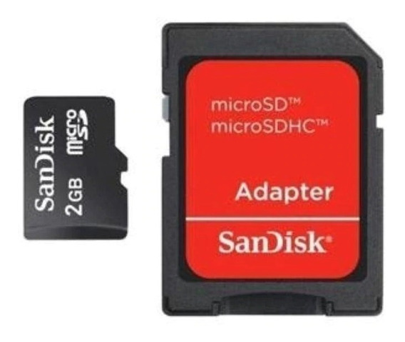 Cartão Memoria Micro Sd Sandisk 2gb