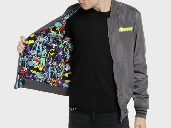 Jaqueta Bomber Dupla Face Batman