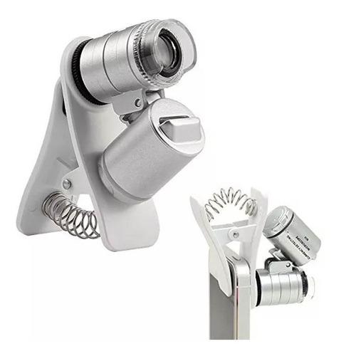 Imagem 1 de 2 de Mini Microscópio Lupa Bolso 60x Luz Ultravioleta Garimpo