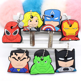 Kit 5 Capinha De Chave Silicone Herois Diversos Personagens