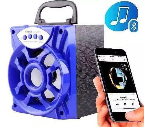 Caixa Caixinha Som Portátil Bluetooth Mp3 Pendrive Fm