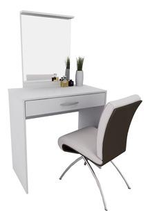 Tocador Organizador Cosmeticos Maquillador Blanco C/ Espejo+