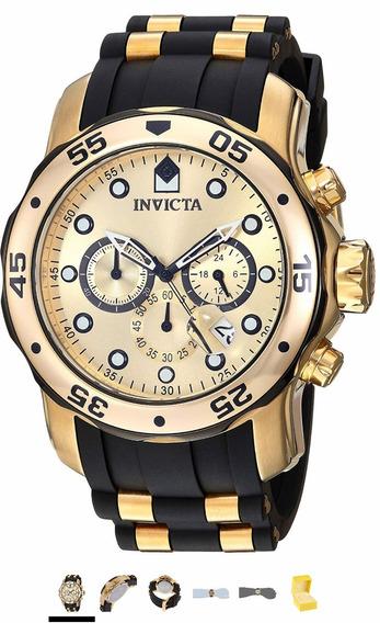Relógio Invicta Pro Diver 17885 Ouro 18 K Original