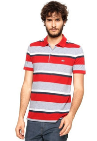 5aab900c16b Camisa Polo Lacoste Listrada Homem - Pólos Manga Curta Masculinas no ...