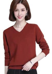 Suéter De Lã Tricô Cardigan Fechado Outono-inverno Importado