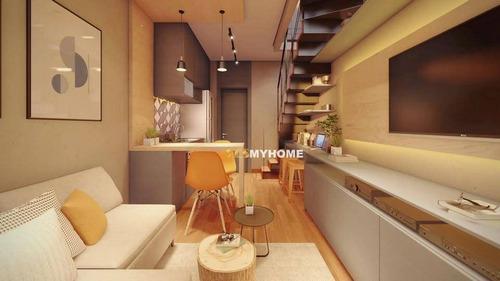 Cobertura Com 1 Dormitório À Venda, 29 M² Por R$ 255.000,00 - Novo Mundo - Curitiba/pr - Co0426