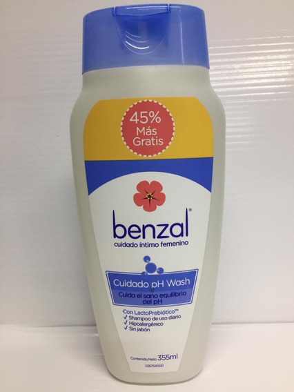 Benzal Wash Ph Lactoprebiotico240ml Mas 45 % Gratis 355 Ml