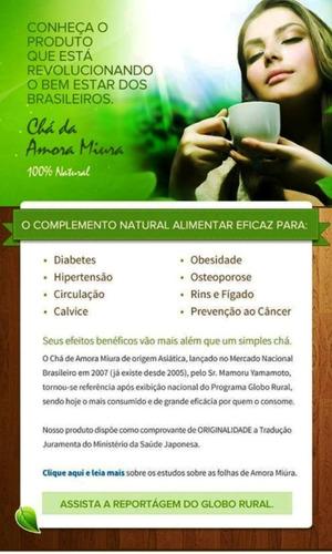 Kit 3 Chá De Amora Miura - 100 Dias - Emagreça Com Saúde!!