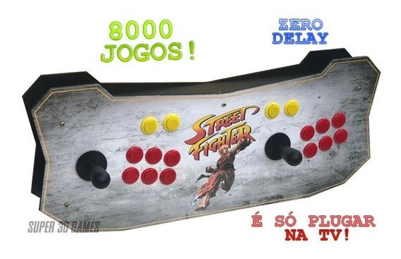 Super Nintendo Arcade Com 8 Mil Jogos Só Plugar E Jogar!
