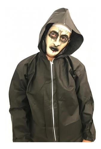 Disfraz Terror Halloween Mascara + Disfraz Todos Los Talles