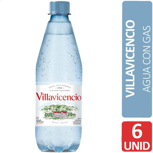 Imagen 1 de 7 de Agua Villavicencio Con Gas De Mesa Mineral Natural - Pack X6