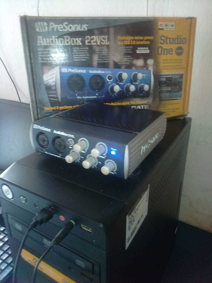 Placa De Audio Excelente P/ Studio Presonus Audio Box 22 Vsl