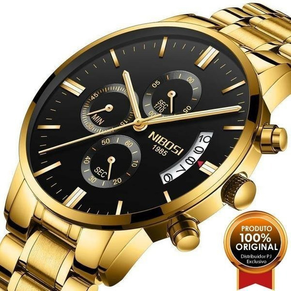 Relógio Masculino Nibosi 2309 Blindado Funcional Anti-risco