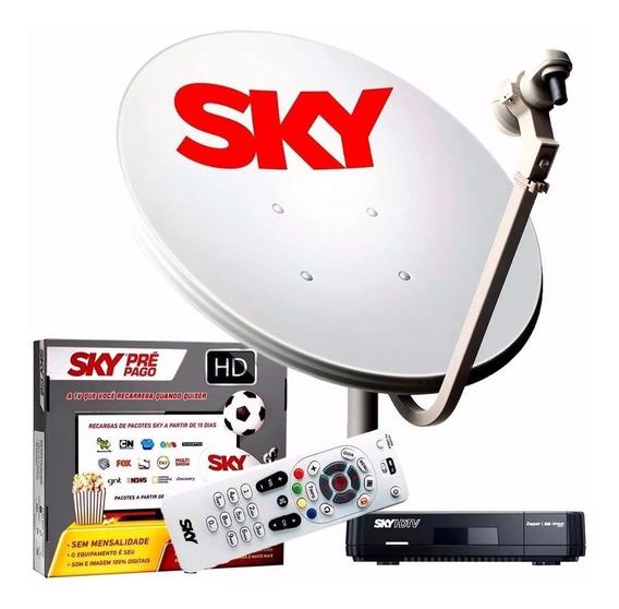 Sky Pré Pago Flex Hd - Kit Completo