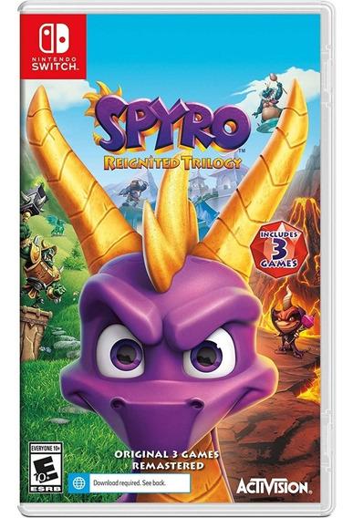 Spyro Reignited Trilogy Switch Mídia Física Novo Lacrado