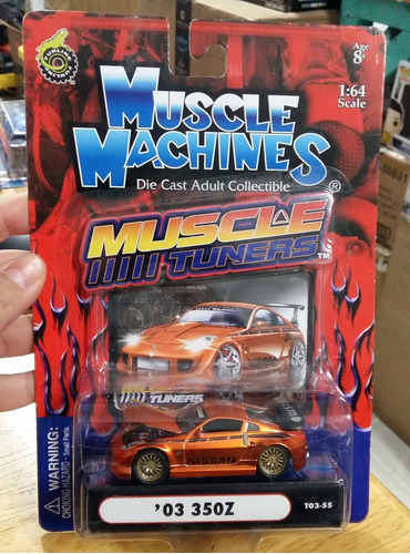 Muscle Machines Muscle Tuners '03 350z 1:64 Envio Gratis