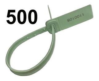 Precinto Seguridad 500 Piezas. 30 Cm Largo. Inserto Metal.