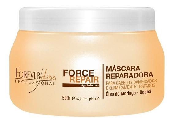Máscara Reparadora Force Repair Forever Liss- 500gr- Obeleza