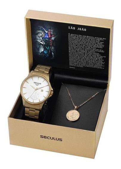 Kit Relógio Seculus São João 35015gpskda1k1