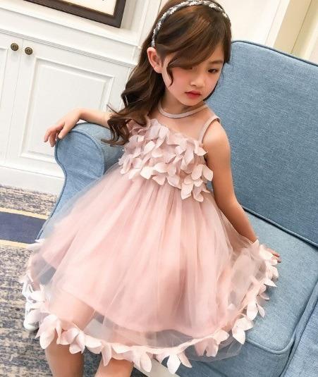 Vestido Infantil Festa Rosê Aniversário Formatura Dama