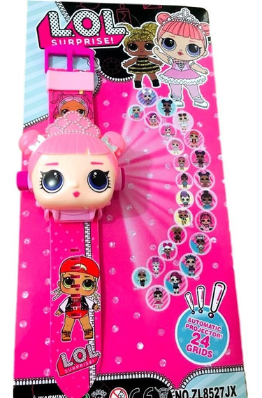 Relógio Infantil Lol Surprise Brinquedo Projetor De Imagem
