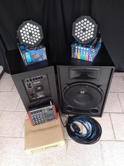 Kit Sonorização Profissional Sistema Ativo Jbl Par15 700wrms