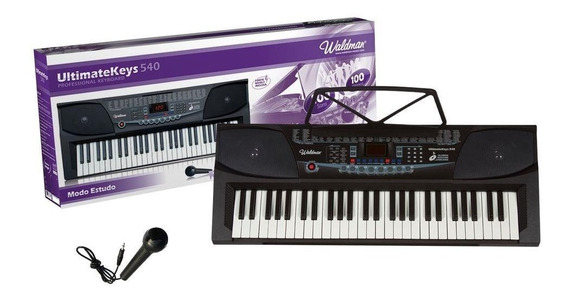 Teclado Waldman 54 Teclas Keypro Kep-54 Com Microfone Bivolt