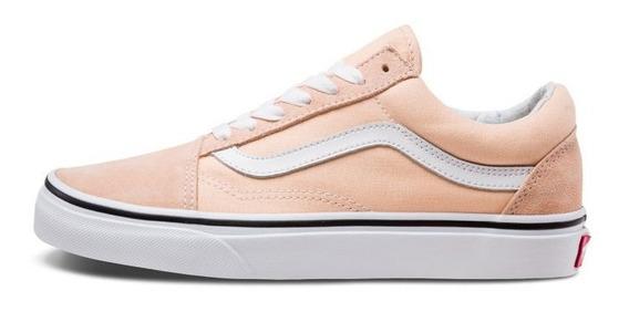 Tenis Vans Old Skool Bleached Apricot Durazno Gamuza Clasico