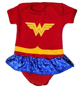 Body Bebê Mulher Maravilha Roupa Infantil Fantasia M2 Heroi