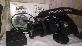Canon T3i + Efs18-135 Cartao Memo+bolsa 8k Cliks