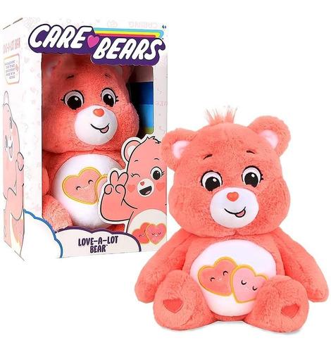 Imagem 1 de 8 de Pelúcia Ursinhos Carinhosos Care Bears 2020 Love Lot Salmão