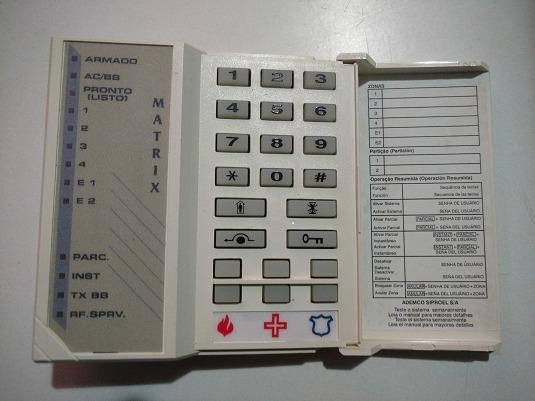 Teclado Placa Alarme Matrix - N9002 V1 Ademco Fbii