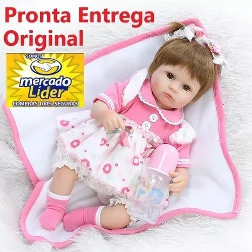 Bebe Reborn Menina Realista Larinha Boneca Npk Envio Imediat