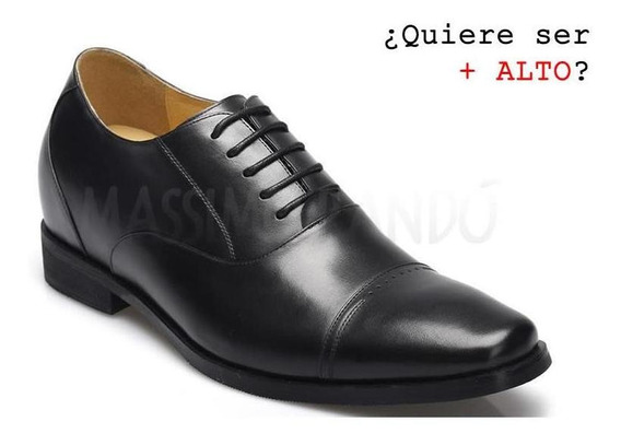 Gerardo Negro 7cm Zapatos Novios Con Plantillas De Altura