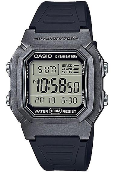 Relógio Casio Bateria Que Dura 10 Anos W-800hm-7av Com Nf