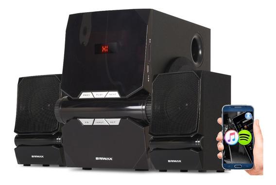 Home Theater 2.1 Subwoofer 50w Bluetooth Tv Rádio Fm Som Mp3