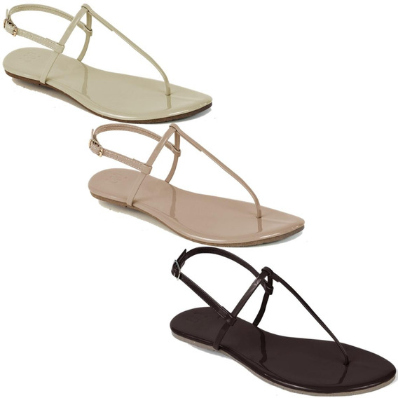 Kit 3 Pares Flat Rasteira Feminina Mercedita Shoes