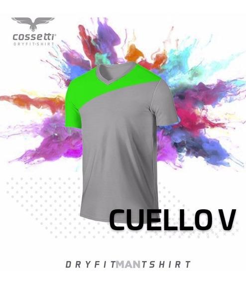 Playera Cuello V Cossetti Manga Corta Dryfit Crossline Xl 2x