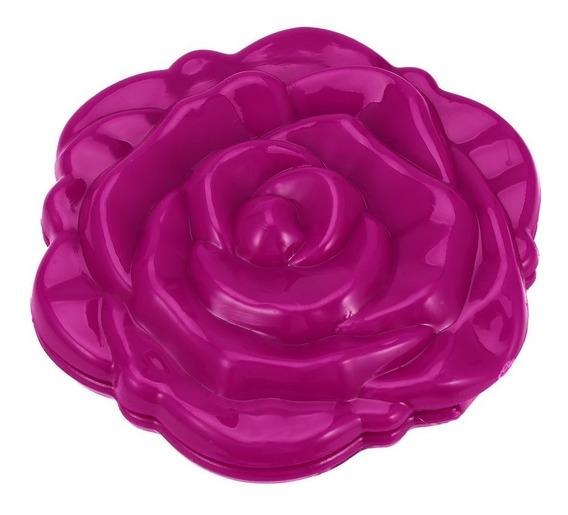 Bonito 3d Bonitinho Rose Flor Forma Cosmético Espelho Duplo