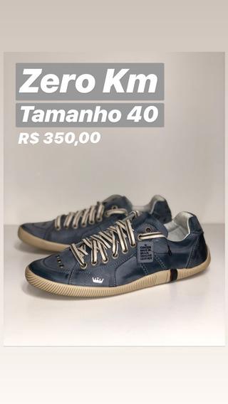 Sapatênis Osklen Masculino Couro Riva Original Tamanho 40 Azul
