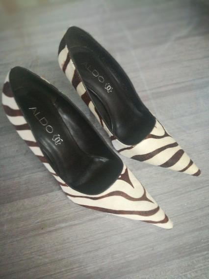 Zapatos De Vestir Stilleto De Cuero