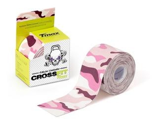 Kinésio Tmax Rosa Camuflado Bandagem Elástica 5 Cm X 5m