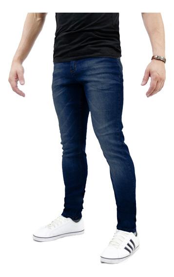 Kit 3 Calça Jeans Sarja Skinny Masculina Lycra Escura Clara