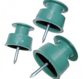200 Un. Roldana Plástica C/ Prego 36x36 - Ilumi