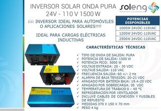 Inversor Solar Onda Pura 24v - 110 V 1500 W (envío Gratis)
